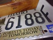 IDAHO LICENSE PLATE DUST PAN
